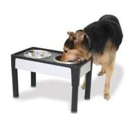 "our pets signature series dog elevated panel feeder black gray 23 x 125 x 8 250x250 - Our Pets Signature Series Dog Elevated Panel Feeder Black / Gray 23"" x 12.5"" x 8"""