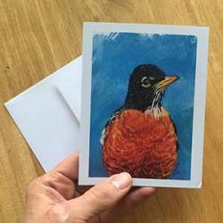 robin small 250x250 - American Robin Greeting Card