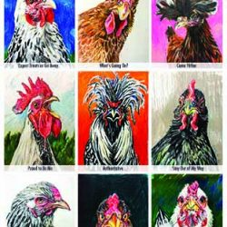 "Chicken Poster, ""The Many Moods of a Chicken"""