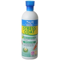 PondCare Stress Coat Plus Fish & Tap Water Conditioner for Ponds (16 oz [Treats 1,920 Gallons])