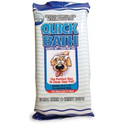 "International Vet Quick Bath Wipes for Dogs (10"" Long x 8"" Wide [10 Pack])"