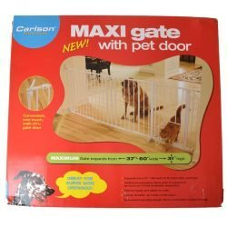 "Carlson Pet Gates Maxi Walk Thru Gate with Pet Door (37""-60""W x 31""H)"