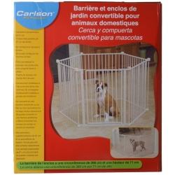 "24242 250x250 - Carlson Pet Gates Convertible Pet Yard (28"" Tall  x 144"" Circumference [150"" Wide as a Gate])"