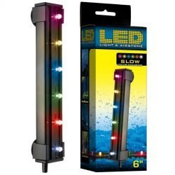 "24809 250x250 - Via Aqua LED Light & Airstone Slow Color Changing (1.8 Watts - 6"" Long [6 Multicolor LED's])"