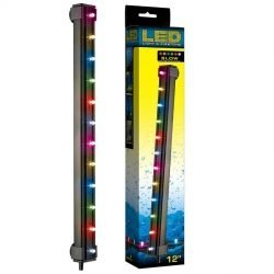 "24812 250x250 - Via Aqua LED Light & Airstone Slow Color Changing (2.7 Watts - 12"" Long [12 Multicolor LED's])"