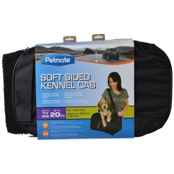 """Petmate Soft Sided Kennel Cab Pet Carrier - Black (Large - 20""""L x 11.5""""W x 12""""H [Up to 15 lbs])"""