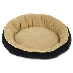 """Petmate Round Pet Bed with Elliptical Bolster (18""""L x 18""""W x 5""""H)"""