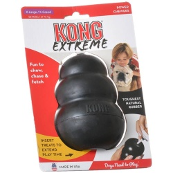 "28985 250x250 - Kong Extreme Kong Dog Toy - Black (X-Large - Dogs 60-90 lbs [5"" Tall x 1.25"" Diameter])"