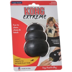 "28991 250x250 - Kong Extreme Kong Dog Toy - Black (Large - Dogs 30-65 lbs [4"" Tall x 1"" Diameter])"