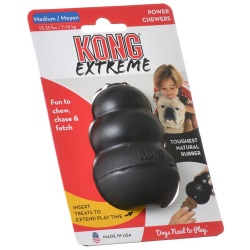 "28994 250x250 - Kong Extreme Kong Dog Toy - Black (Medium - Dogs 15-35 lbs [3.5"" Tall x 1"" Diameter])"