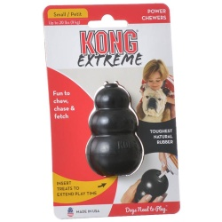 "29027 250x250 - Kong Extreme Kong Dog Toy - Black (Small - Dogs up to 20 lbs [2.75"" Tall x .75"" Diameter])"