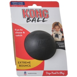 "29195 250x250 - Kong Extreme Ball - Black (Medium/Large - Solid Ball [Dogs 35-85 lbs - 3"" Diameter])"