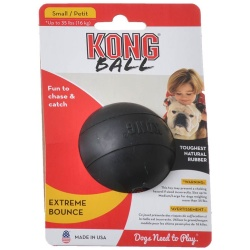 "29198 250x250 - Kong Extreme Ball - Black (Small - Solid Ball [Dogs up to 35 lbs - 2.5"" Diameter ])"