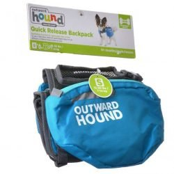 32432 250x250 - Outward Hound Quick Release Dog Backpack - Blue & Black (Small - Dogs 15-30 lbs)