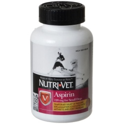 Nutri-Vet Aspirin for Dogs (Small Dogs under 50 lbs - 100 Count [120 mg])