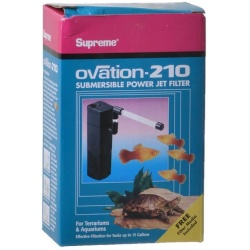Supreme Ovation Submersible Power Jet Filter (Model 210 - 53 GPH [Up to 15 Gallons])