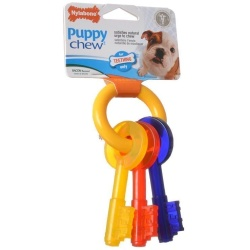 Nylabone Puppy Chew Teething Keys Chew Toy (X-Small [For Dogs up to 15 lbs])