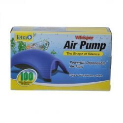 Tetra Whisper Aquarium Air Pumps (Whisper 100 - Up to 100 Gallons [2 Outlets])