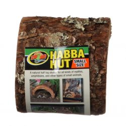 "Zoo Med Habba Hut Natural Half Log with Bark Shelter (Small [3.25""L x 4.5""W x 2""H])"