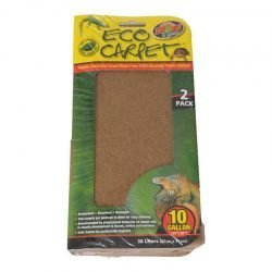 "Zoo Med Reptile Cage Carpet (10 Gallon Tanks - 20"" Long x 10"" Wide [2 Pack])"