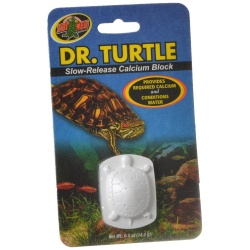 Zoo Med Dr. Turtle Slow Release Calcium Block (Treats up to 15 Gallons [.5 oz])