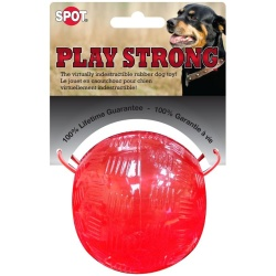 """59413 250x250 - Spot Play Strong Rubber Ball Dog Toy - Red (3.75"""" Diameter)"""