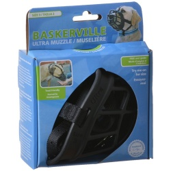 """59690 250x250 - Baskerville Ultra Muzzle for Dogs (Size 3 - Dogs 25-45 lbs - [Nose Circumference 11""""])"""