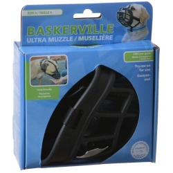 """59693 250x250 - Baskerville Ultra Muzzle for Dogs (Size 4 - Dogs 40-65 lbs - [Nose Circumference 12.3""""])"""