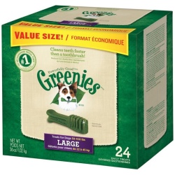 Greenies Original Dental Dog Chews (Large Value Pack - 24 Treats - [Dogs 50-100 lbs])