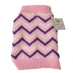 """65364 250x250 - Lookin' Good Chevron Dog Sweater - Pink (Small [Dogs 10""""-14"""" Neck to Tail])"""