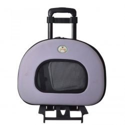 "65900 250x250 - Pet Life Wheeled Tough-Shell Lavender Collapsible Pet Carrier (Medium - [17.8""L x 11.1""W x 13.7""H])"