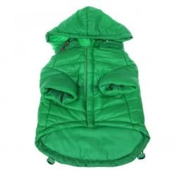 "66359 250x250 - Pet Life Sporty Avalanche Lightweight Dog Coat with Hood - Green (Small - [10""-12"" Neck to Tail])"