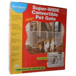 "70530 250x250 - Carlson Super Wide Convertible Pet Gate (120"" Wide x 28"" High)"
