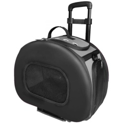 "70578 250x250 - Pet Life Wheeled Tough-Shell Black Collapsible Pet Carrier (Medium - [17.8""L x 11.1""W x 13.7""H])"
