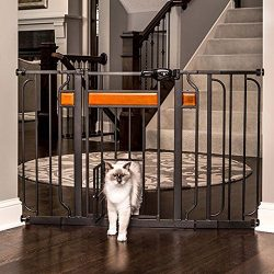 "Carlson Design Studio Extra Wide Walk-Thru Pet Gate with Door (29""-44"" Wide x 30"" High)"