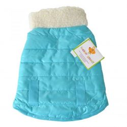 """72601 250x250 - Lookin Good Reversible Puffy Dog Coat - Blue (Small - [Fits 10""""-14"""" Neck to Tail])"""