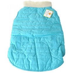 """72607 250x250 - Lookin Good Reversible Puffy Dog Coat - Blue (Large - [Fits 19""""-24"""" Neck to Tail])"""