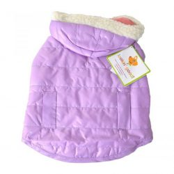 """72610 250x250 - Lookin Good Reversible Puffy Dog Coat - Lilac (Small - [Fits 10""""-14"""" Neck to Tail])"""