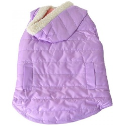 """72613 250x250 - Lookin Good Reversible Puffy Dog Coat - Lilac (Medium - [Fits 14""""-19"""" Neck to Tail])"""