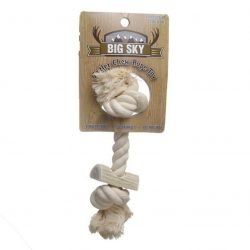 """74106 250x250 - Big Sky Antler Chew with Rope (Small - [8"""" Long])"""