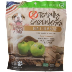 76418 250x250 - Loving Pets Totally Grainless Meaty Chew Bones - Chicken & Apple (Large Dogs - 6 oz - [Dogs 41+ lbs])