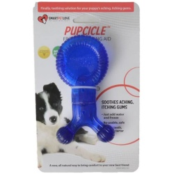 """SmartPetLove Pupcicle Teething Aid - Blue (1 Pack - [5.5""""L x 2.5""""W])"""