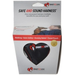 """SmartPetLove Safe & Sound Harness (X-Small - Dogs up to 5 lbs - [Chest: 7""""-10"""" / Neck: 6""""-9""""])"""