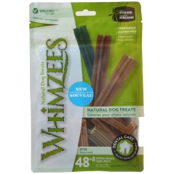 Whimzees Natural Dental Care Stix Dog Treats (X-Small - 56 Pack - [Dogs 5-15 lbs])