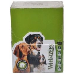 Whimzees Natural Dental Care Alligator Dog Treats (Large - 30 Pack - [Dogs 40-60 lbs])