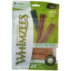 Whimzees Natural Dental Care Stix Dog Treats (Small - 28 Pack - [Dogs 15-25 lbs])