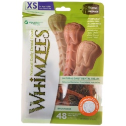 Whimzees Brushzees Dental Treats - X-Small (48 Count)
