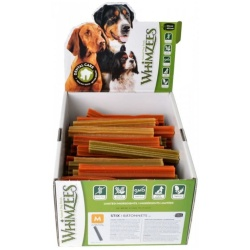 Whimzees Natural Dental Care Stix Dog Treats (Medium - 100 Pack - [Dogs 25-40 lbs])