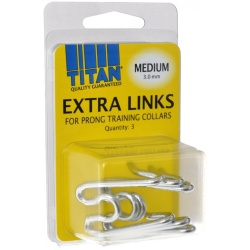 Titan Extra Links for Prong Training Collars (Medium [3.0 mm] - 3 Count)