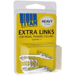 Titan Extra Links for Prong Training Collars (Heavy [3.3 mm] - 3 Count)